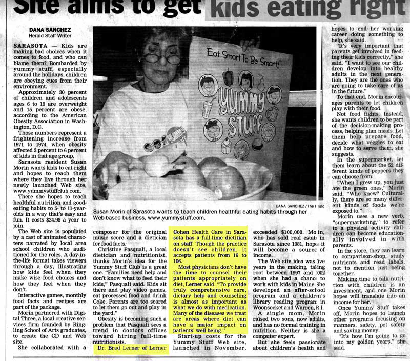 Clipping from Manatee Herald December 2005