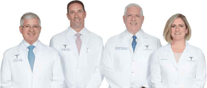Lerner Cohen, A Concierge Medical Practice Physicians: Dr. Louis Cohen, Dr. James Cocco, Dr. Brad Lerner, Dr. Amy Roth